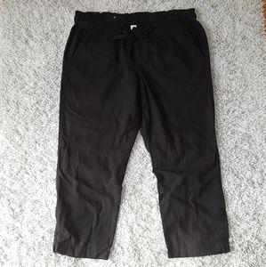 [Old Navy] Black Linen Capri Pants